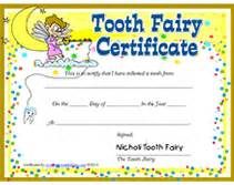 free tooth fairy certificates printable templates