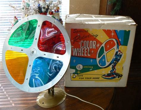 rotating color wheel for tree vintage 50s 60s spartus motorized rotating color wheel light