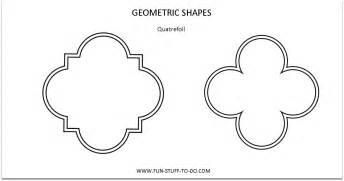 Tag shapes outline shapes quatrefoil outline