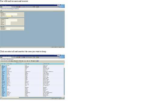 sap user tutorial sap security tutorial mass user administration su10