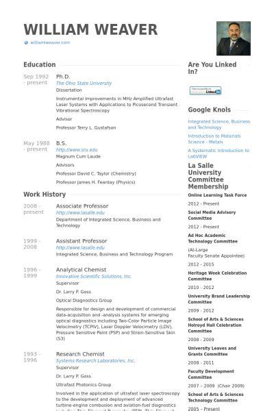 Sample Resume Of Professor – Example Resume: Sample Resume College Professor Position