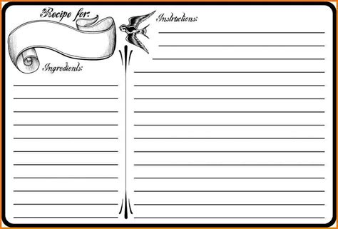 blank recipe card template blank recipe template authorization letter pdf