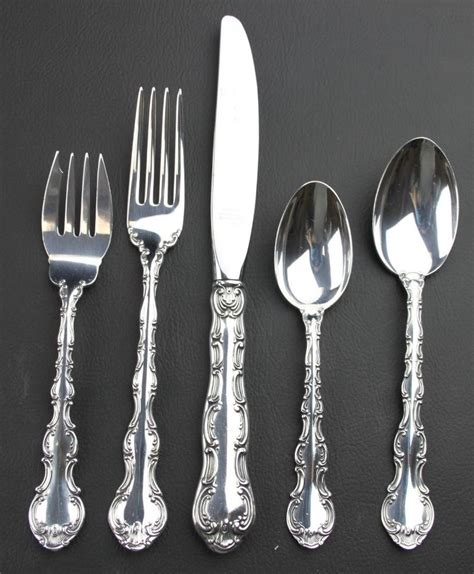 silver place settings gorham strasbourg place setting sterling silver ebay