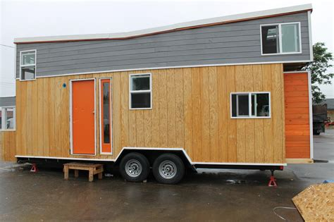 tiny house tour the second wall goes up the comet cer tiny house big living these itsy bitsy homes are feature