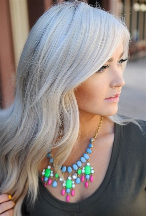 haarfarbe grau ohne blondieren pony frisur