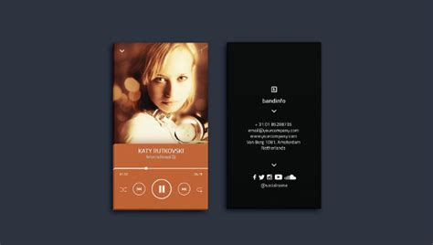 business card template musician 20 musician business card templates free premium