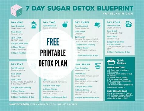 10 Day Sugar Detox Meal Plan by 25 Best Ideas About 7 Day Detox Plan On 7 Day