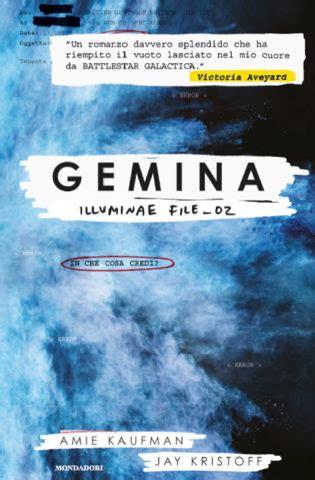 libro gemina the illuminae files un rifugio per i lettori gemina di amie kaufman in libreria dal 24 ottobre