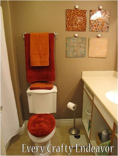 Cool Bathroom Decorating Ideas Orange And Brown Bathroom Sets My Web Value