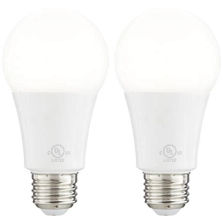 Led Light Bulbs For Enclosed Fixtures 16 Watt Enclosed Fixture Medium Base Led Light Bulb 2 Pack 1y450 Ls Plus