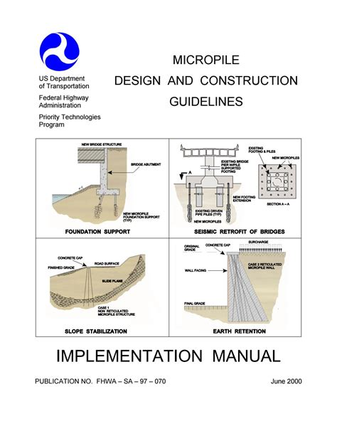design criteria for road construction federal highway administration fhwa micropilie design