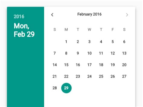 material design calendar js material design date time picker in vanilla javascript