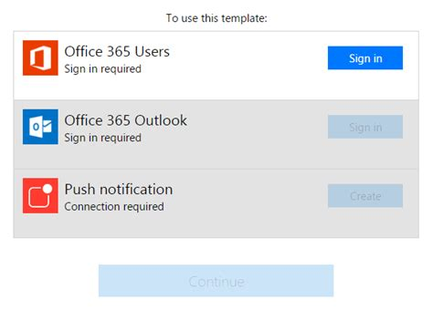 Office 365 Outlook Trying To Connect Flow Of The Week Sick Day Button Flow