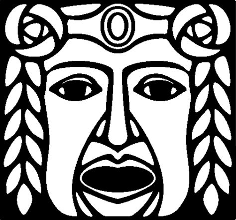 imagenes de caras mayas dibujo de m 225 scara maya para colorear dibujos net
