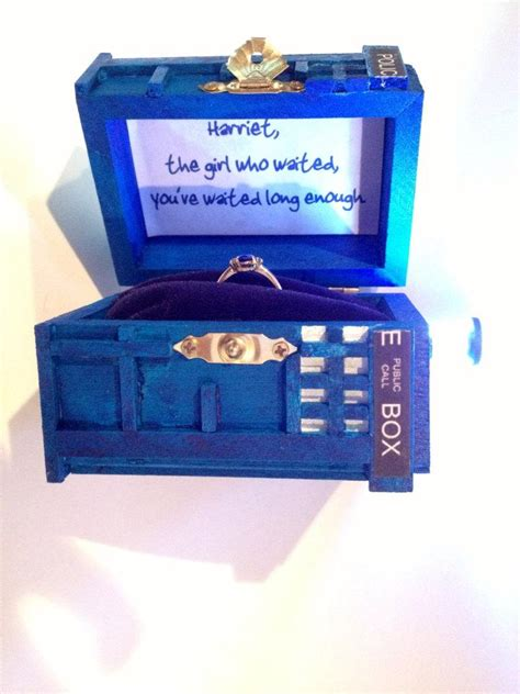 Handmade Ring Box - box wedding ring box with led light handmade