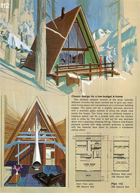 Cottage Plans A Frame A Frame Cabin Cool A Frames Pinterest