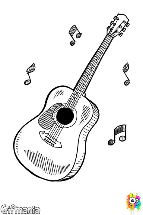 spanish guitar coloring page classic guitar coloring page