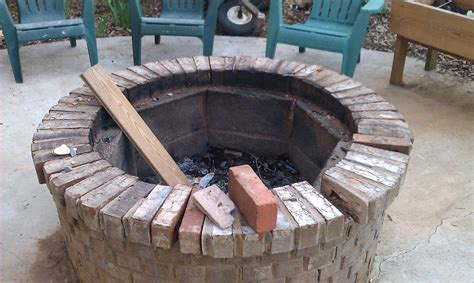 Diy Brick Firepit Diy Brick Pit Kit Fireplace Design Ideas