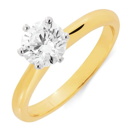 1 Engagement Rings by Certified Solitaire Engagement Ring With A 1 Carat Tw