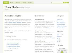 news flash free website template free css templates