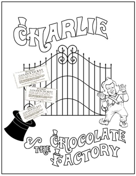 charlie the chocolate factory coloring book coloring pages