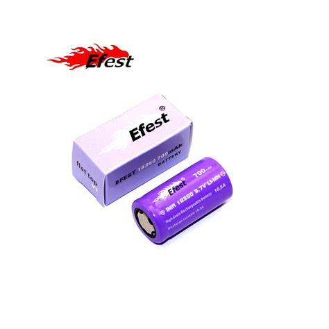 Efest Battery 18350 700mah 37v 105a batterie accu efest purple imr 18350 10 5a 700mah vap experience