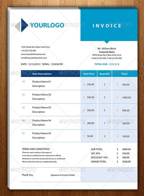 design proposal font new blue invoice template fonts and business proposal