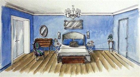 bedroom design interior illustrations