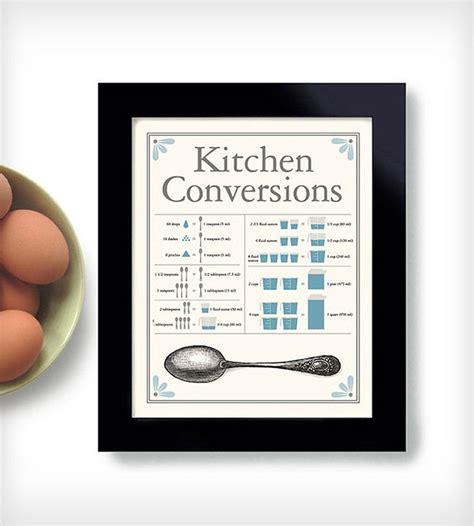 Kitchen Conversion Chart Poster Kitchen Conversion Chart Print Prints Dexmex