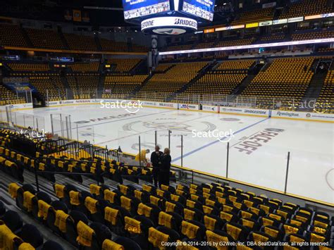 what is a section 117 bridgestone arena section 118 seat views seatgeek