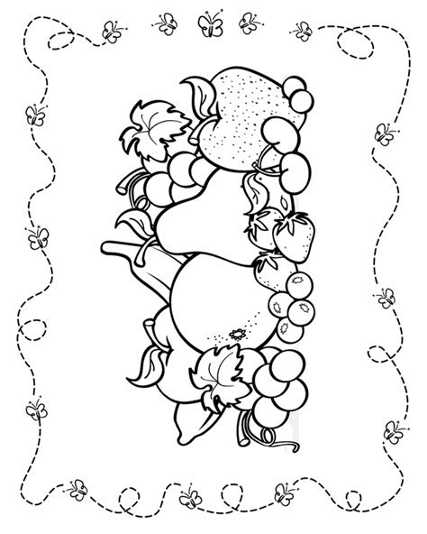fruit coloring pages to print coloring home