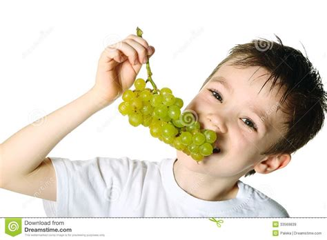 ate grapes boy with grapes stock image image of lifestyle 33569839