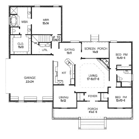 120 sq ft country style house plan 3 beds 2 baths 1868 sq ft plan 15 120