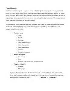 Report Writing Format For Business Communication by Written Communication Report