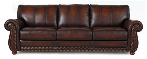 Leather Traditional Sofa Futura Leather Futura Leather 7530 Traditional Leather Sofa With Nailhead Trim Dunk Bright