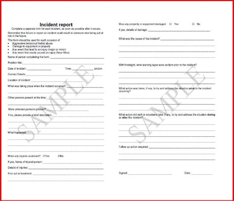 risk management incident report template with photo attachments layout 30