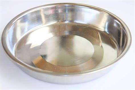 bird parrot aviary seed grain stainless steel food dish