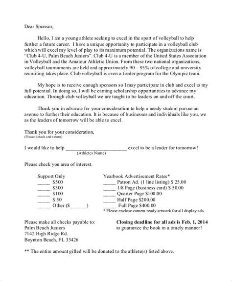 sports sponsorship letter samples  word apple pages