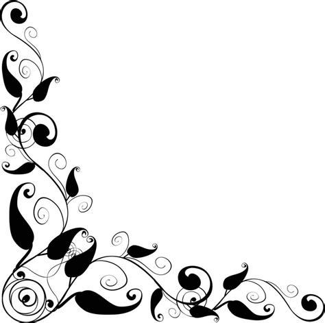 design foto vector floral design corner frame vector clipart best clipart