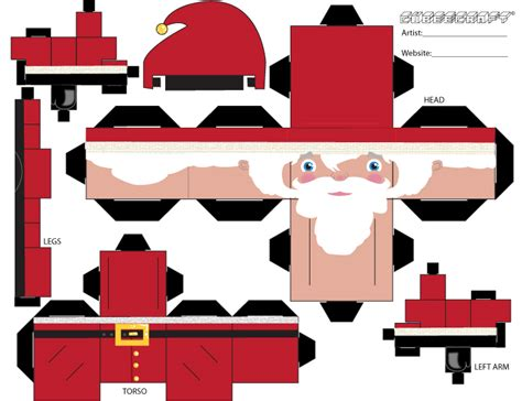 Pola Papercraft Mobil Up santa cubeecraft by find a on deviantart cube