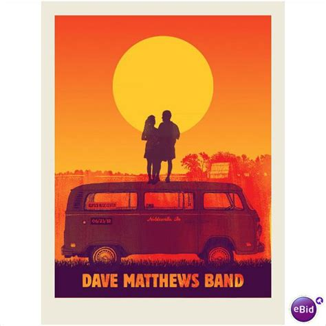 Bedroom Band 2012 dave matthews band noblesville vw bus tour poster 6