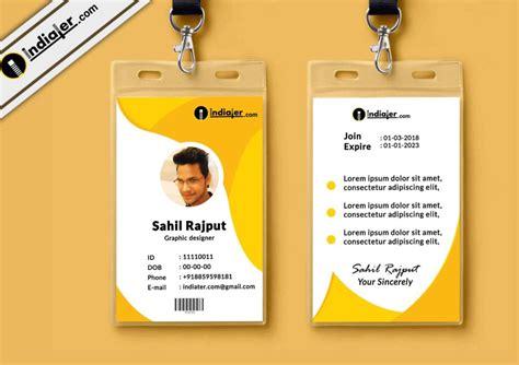 id card template free multipurpose corporate office id card free psd template