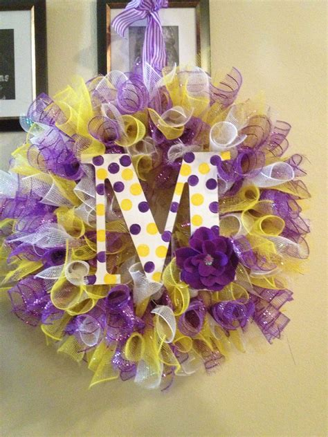 purple and yellow mesh wreath yellow purple curly deco mesh wreath wreaths