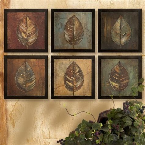 tuscan old world set of 3 large plaques with crosses set of 6 french tuscan mediterranean floating leaves wall