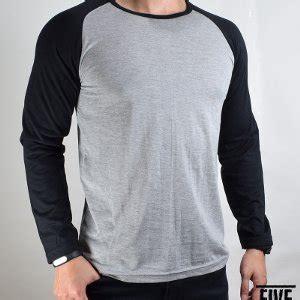 Kaos Sleeve Abu Garciakaos Lengan Panjang Abu Garcia jual kaos raglan lengan panjang biru abu baru kaos baju t shirt pria murah
