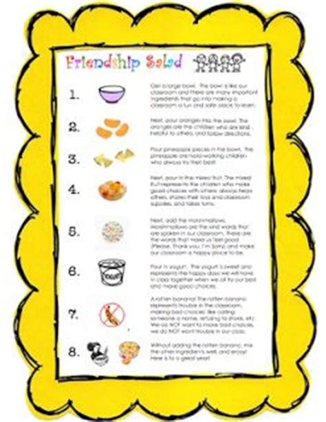 recipe for friendship template 17 best ideas about friendship salad on apple