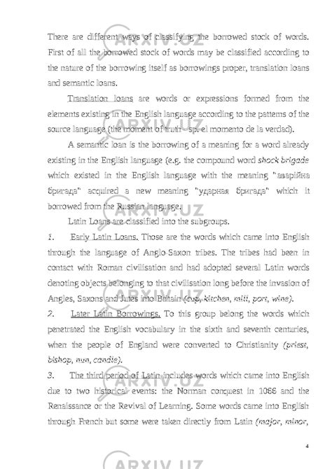 Etymological survey of the English word-stock