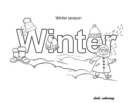 didi coloring page seasons