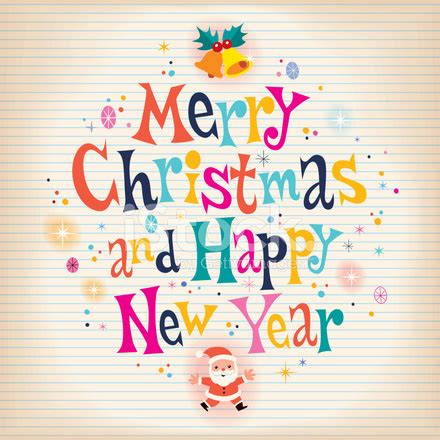 merry christmas  happy  year greeting card stock vector freeimagescom
