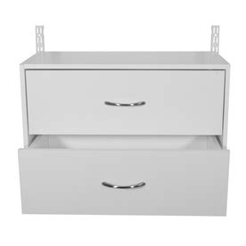 shop rubbermaid homefree white wood 2 drawer unit at lowes com